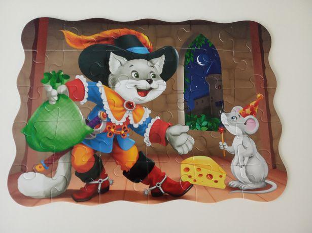 puzzle castorland 30 elementów Kot w butach