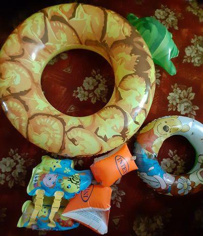 Красивый Детский Надувной жилет нарукавники круг для плавания