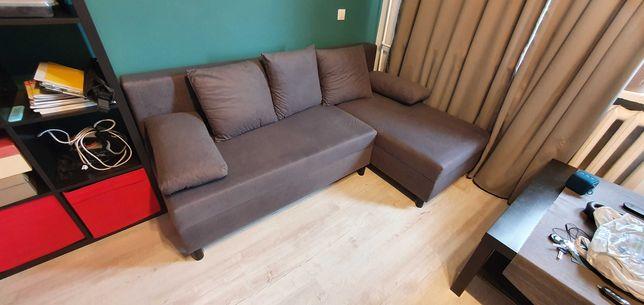 narożnik ANGSTA rozkładana sofa szary dwustronny