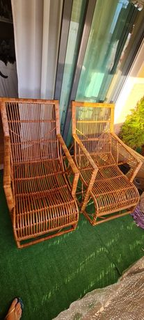 Cadeiras em verga de baloiço