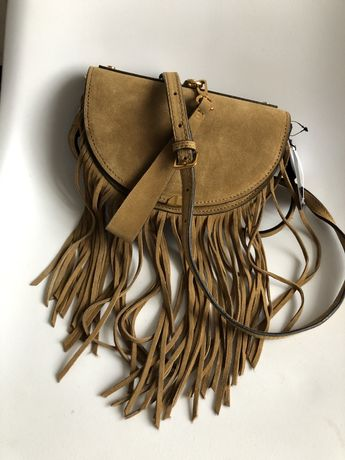 Замшева сумочка Mango