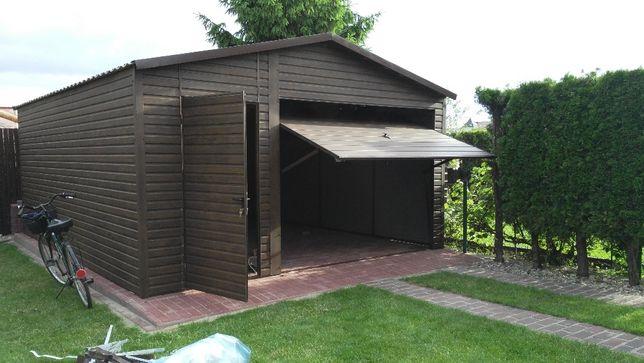 drewnopodobny garaż blaszany 4x6 profil ocynkowany