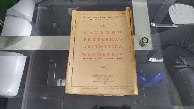 Manual antigo de matemática com mais de 70 anos