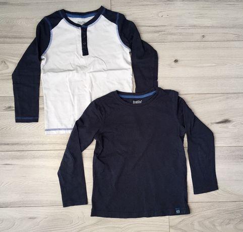 Zestaw: koszulki z długim rękawem r. 110/116