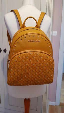MICHAEL KORS Abbey nowy ORYGINALNY plecak skórzany torebka żółty złoty