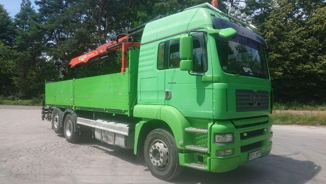 samochód ciężarowy MAN TGA samochód specjalny z przyczepą kaessbohrer