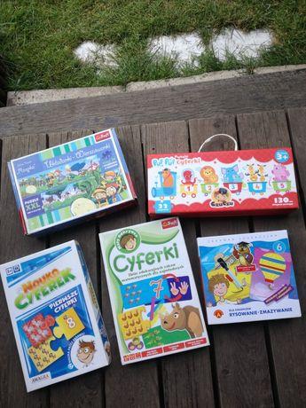 Układanki puzzle edukacyjne 3+
