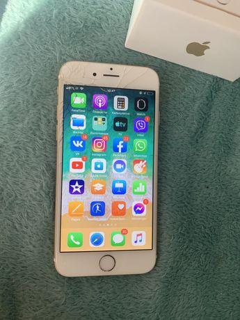 Iphone 6 Gold 32 gb zbita szyba