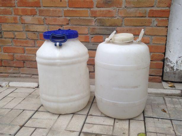 Бидоны бочки пищевой пластик объём 50,60,80 литров
