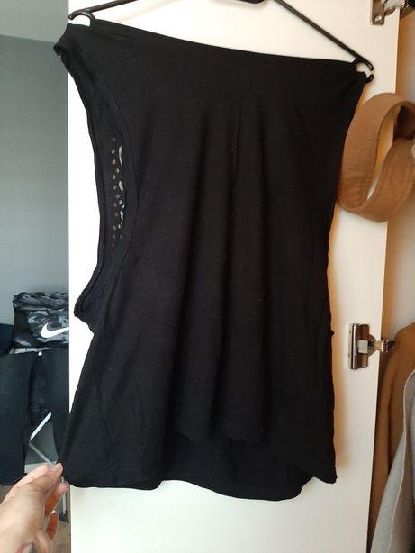 Czarna bluzka z wycięciami pod pachami S,M