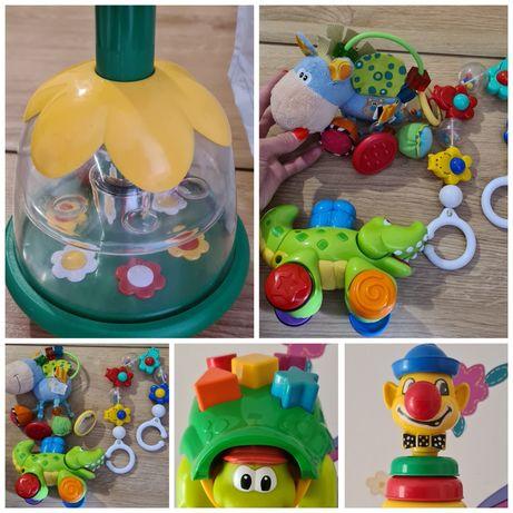 Zabawki dla dzieci piramida,bączek, grzechotka