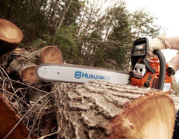 Wycinka drzew rębak Karczowanie działek przycinka cięcie podnośnik
