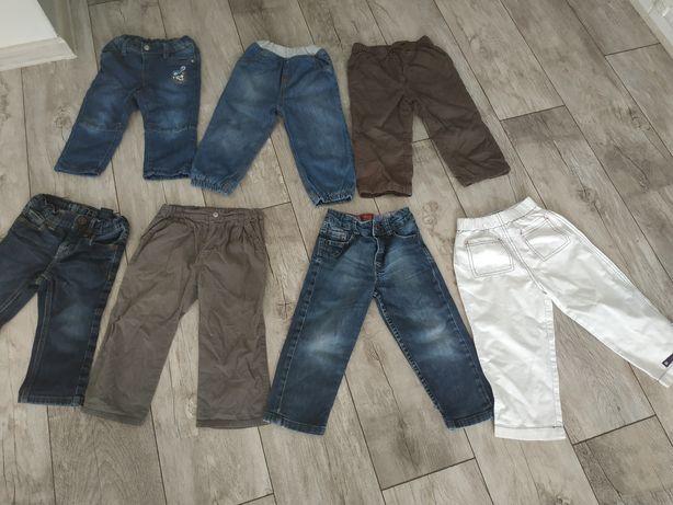 Tommy Hilfiger, Levi's, Petit Bateau itp jeansy na 86-92