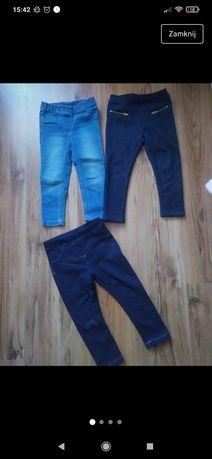 Jeansy spodnie 86 92