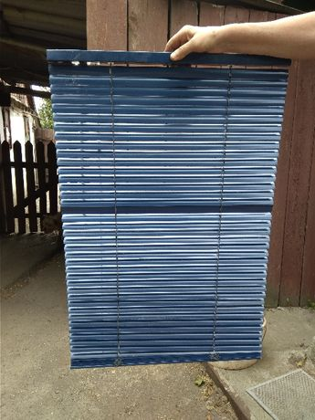 Жалюзи синие пластиковые 180 см