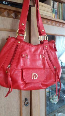 Elegancka torba damska czerwona