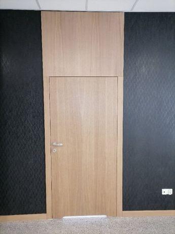Drzwi wewnętrzne drewniane Pełne z blendą