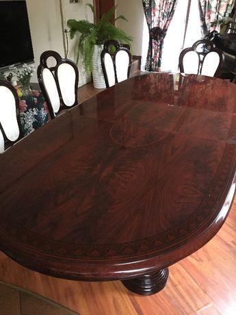Stół z krzesłami ławą i stolikiem Super komplet !!!