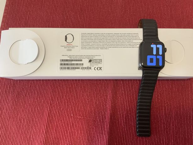 Apple watch 6 stainless stell case 44mm cell + gps 4G.