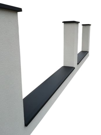 Nakrywka betonowa płaska, ogrodzenie, czapa, daszek - PRODUCENT
