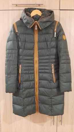 Пуховик пальто куртка зимняя дутик пух+перо, р.48 (L)