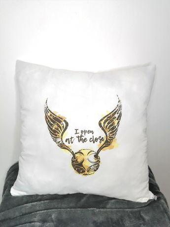 Poszewka poduszka Harry Potter złoty znicz