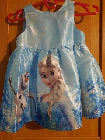 Sukienka dla dziewczynki kraina lodu rozmiar 74