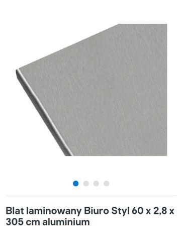 Blat laminowany aluminium Castorama 155 x 60 x 2,8 cm + listwy boczne