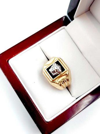 Nieużywany złoty Sygnet Pr: 585 Waga: 4,65 G R.21 Plus Lombard