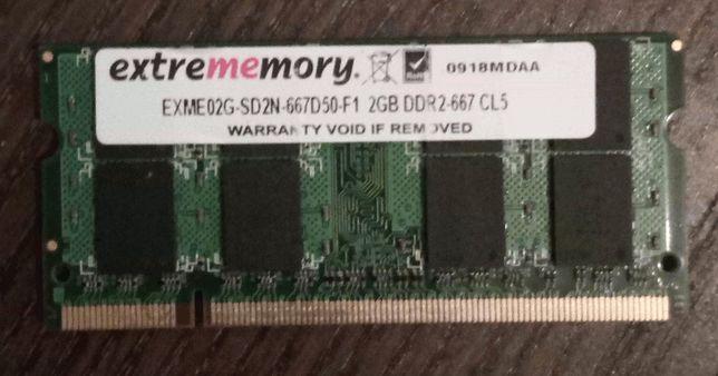 Memória RAM DDR2-667 (SO-DIMM, 2 GB, bom estado)