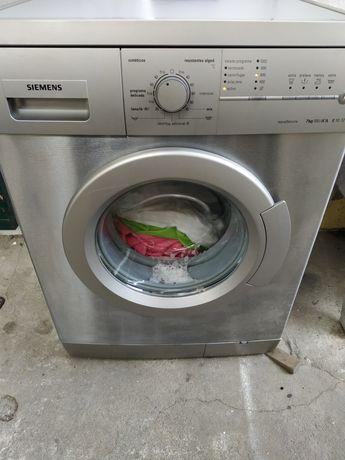 Maquina lavar roupa 7kg Siemens Inox