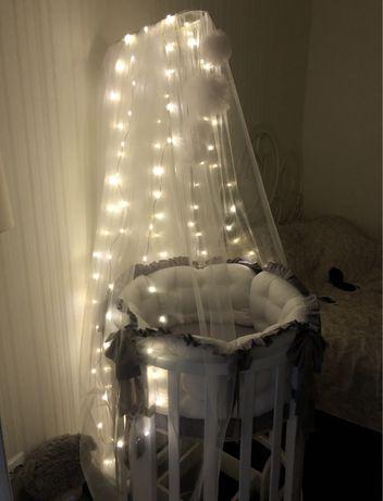 Продам круглую / овальную кроватку baby up 5в1