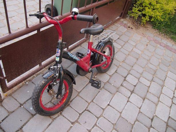 """rowerek dziecięcy 12 """" cali czerwony + kółka"""
