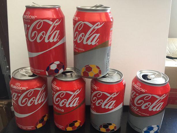 6 Latas Coca-Cola Espanha Euro 2016