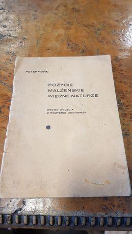 Petermann współżycie małżeńskie Poznań 1923 zbiór podręcznik vintage