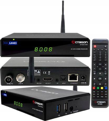 Tuner dekoder satelitarny OCTAGON SF8008 mini UHD 4K 1xS2X + 1xT2/C