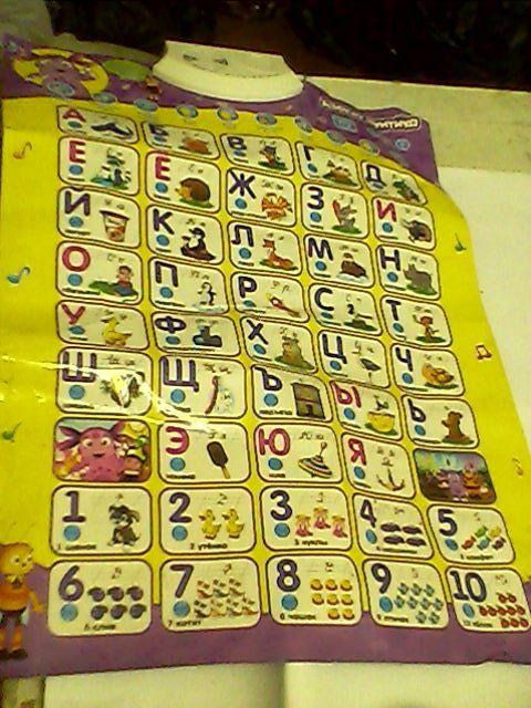 Коврик для обучения буквам и цифрам