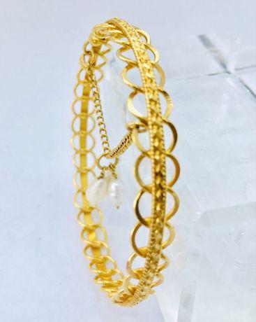 Złota bransoletka 750