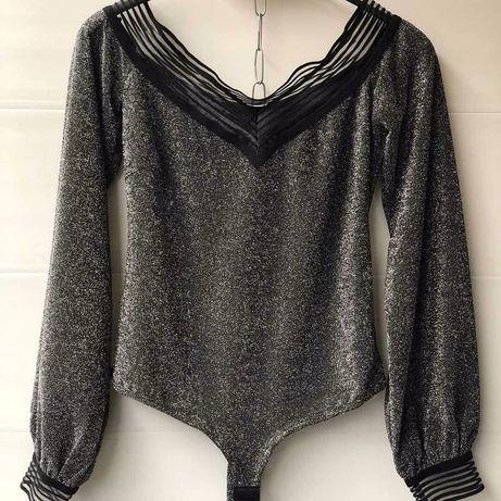 Блестящая блуза боди Poliit h&m лонгслив calliope Zara terranova zara