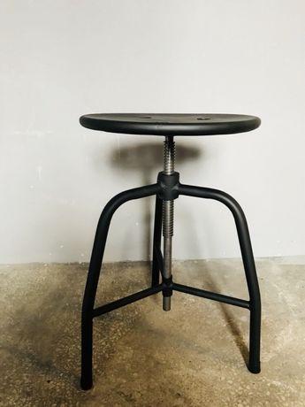 Taboret Loft medyczny lekarski stołek metalowy INDUSTRIALNY na gwincie
