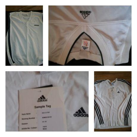 2 xBluzka t-shirt polo Adidas krótki i długi rękaw