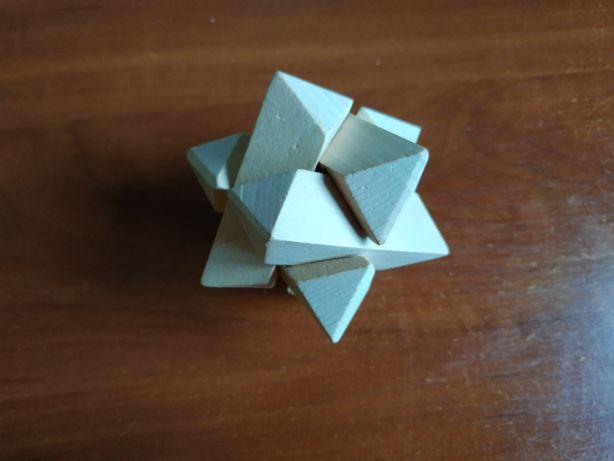 Деревянная 3D головоломка (пазл)