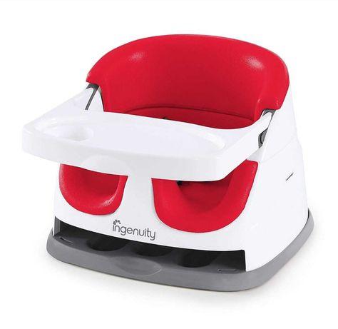 InGenuity, Baby Base 2-in-1, krzesełko wielofunkcyjne, czerwone nowe
