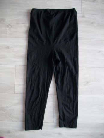 Czarne legginsy ciążowe 3/4 H&M Mama r.S/M