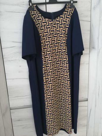 Granatowa sukienka 48