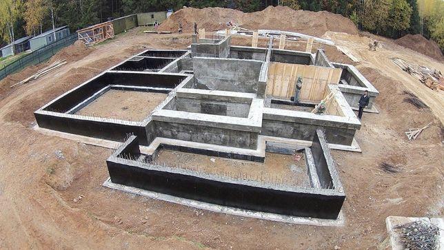 Бетонные работы. Услуги бетонщиков. Строительство фундамента.