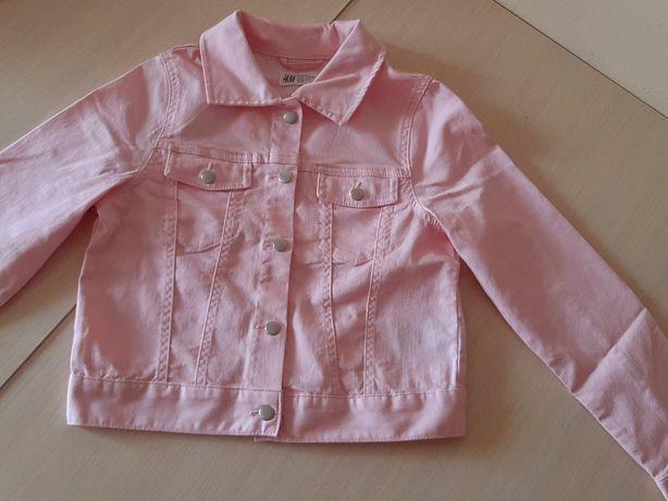 Джинсова куртка розова