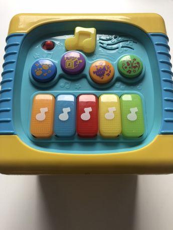 Kostka edukacyjna Smily Play duza 20cm pianinko,swiecacy bebenek,sorte