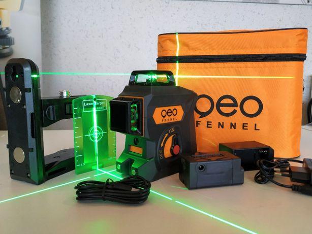 Laser krzyżowy Geo Fennel Geo6X GRE 3x360 ZIELONY 3D płaszczyznowy