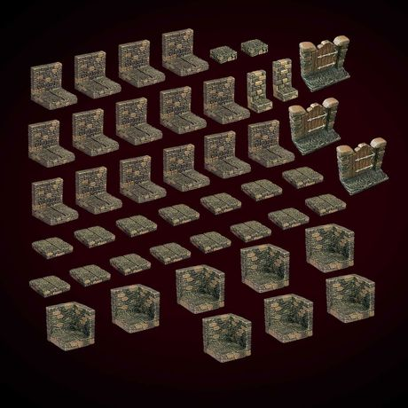 Core Set da Dwarven Forge - 45 Peças modulares